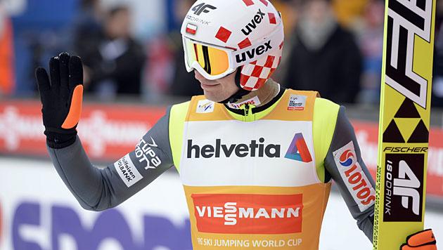 """Weltcup-Leader Stoch gewinnt, """"Schlieri"""" Vierter (Bild: EPA)"""