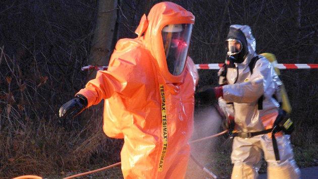 Acht Verletzte bei Chemieunfall nahe Bregenz (Bild: APA/POLIZEI)
