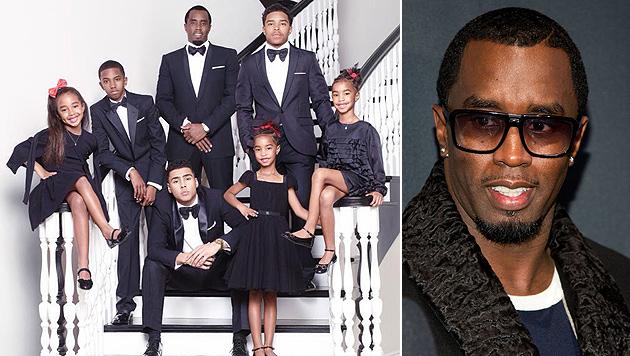 Diddy und seine sechs Kids twittern Weihnachtsgruß (Bild: Twitter, AP)