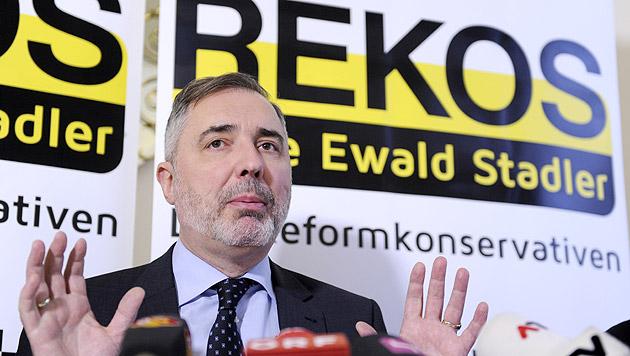 """EU-Wahl: Stadler + Christen = """"REKOS"""" (Bild: APA/Herbert P. Oczeret)"""