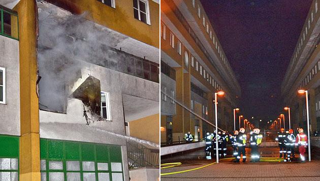 Wien: Zimmer und Christbaum standen in Flammen (Bild: MA 68 Lichtbildstelle)