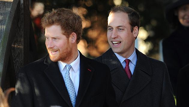 Harry überraschte zu Weihnachten im Zottel-Look (Bild: EPA, AP)