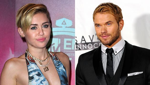 "Miley Cyrus: Silvester mit sexy ""Twilight""-Vampir? (Bild: AP)"