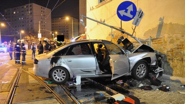 Alko-Unfall in Wien: Sechsköpfige Familie verletzt (Bild: APA/POLIZEI)