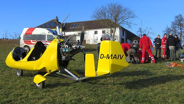 2 Verletzte bei Absturz eines Mini-Hubschraubers (Bild: APA/ÖAMTC)