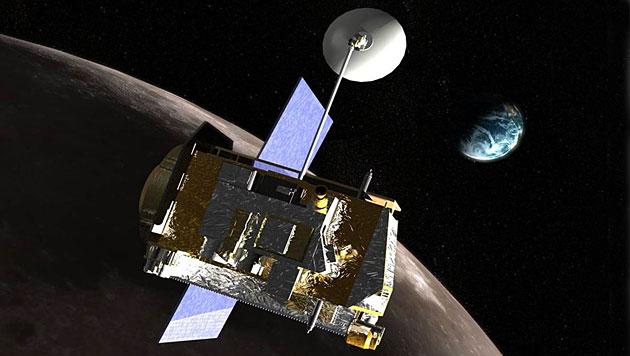 """Künstlerische Darstellung des """"Lunar Reconnaissance Orbiter"""" (Bild: NASA)"""