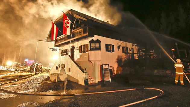 Gasthaus in Sbg brannte: Schock für Wirtsehepaar (Bild: MARKUS TSCHEPP)