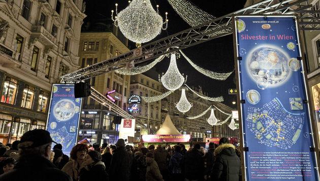 690.000 Menschen begrüßten in Wien das neue Jahr (Bild: APA/HERBERT NEUBAUER)
