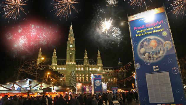 690.000 Menschen begrüßten in Wien das neue Jahr (Bild: Peter Tomschi)