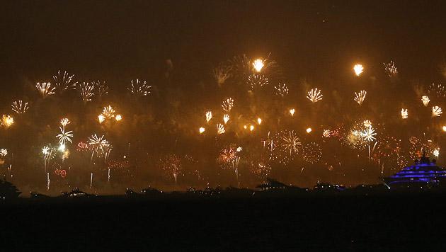 Dubai begrüßte 2014 mit Rekord-Feuerwerk (Bild: EPA)