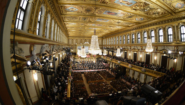 Neujahrskonzert als musikalischer Friedensappell (Bild: APA/HERBERT NEUBAUER)
