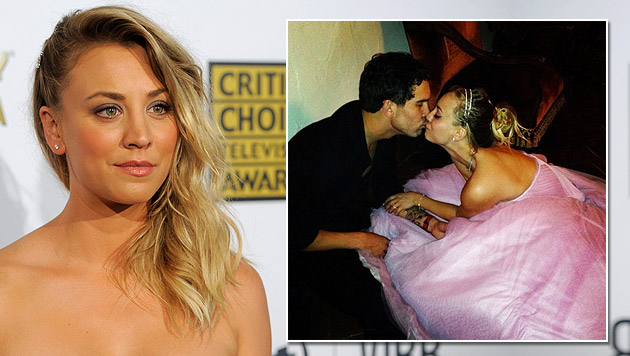 """""""Big Bang Theory""""-Star Kaley Cuoco hat geheiratet (Bild: Chris Pizzello/Invision/AP, twitter.com/Kaley Cuoco)"""