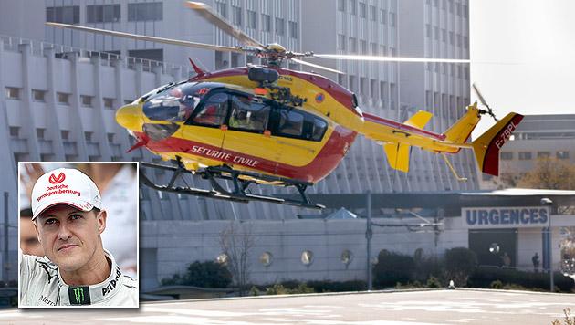 Schumachers Helmkamera soll Unfallhergang klären (Bild: APA/EPA/Salvatore di Nolfi, EPA, krone.at-Grafik)