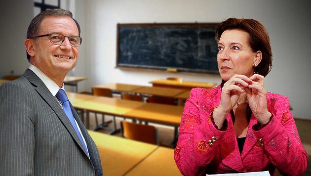 Streit um Gesamtschule: ÖVP lenkt etwas ein (Bild: thinkstockphotos.de, APA, krone.at-Grafik)