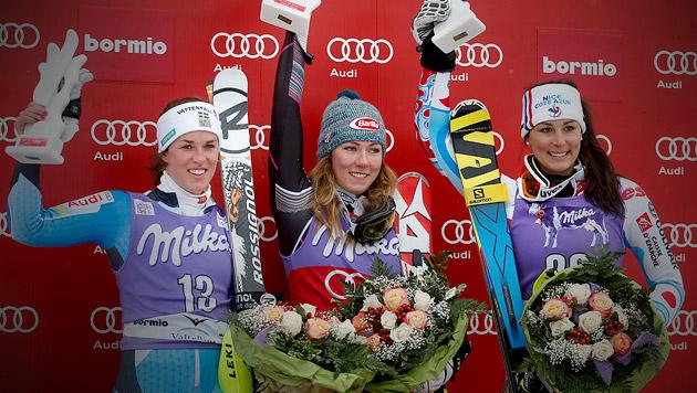 Shiffrin gewinnt, Bernadette Schild Vierte (Bild: AP, krone.at-Grafik)
