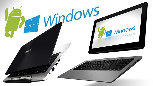 Asus-Convertible vereint Windows 8.1 und Android (Bild: Asus, krone.at-Grafik)