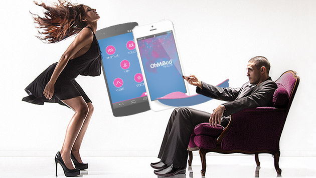 Bluetooth-Vibrator wird per Smartphone gesteuert (Bild: OhMiBod, krone.at-Grafik)