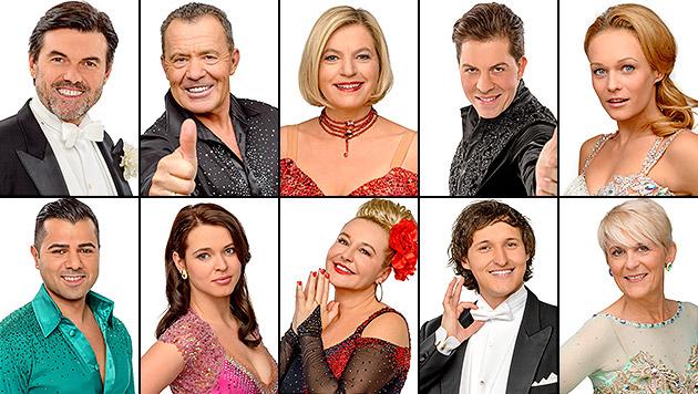 "Das sind die zehn ""Dancing Stars"" 2014 (Bild: ORF/Thomas Ramstorfer)"