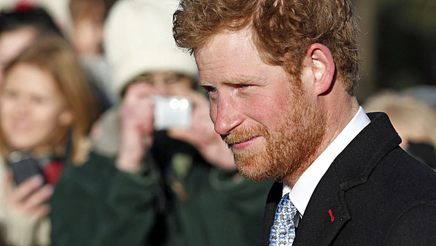 Prinz Harrys Antarktis-Bart ist ab (Bild: AP)