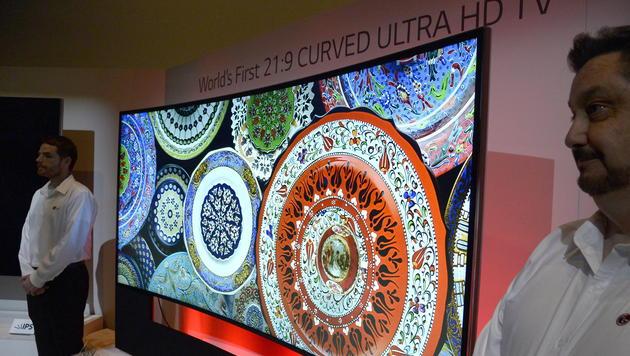 Samsung, LG und Sony zeigen neue 4K-Fernseher (Bild: EPA)