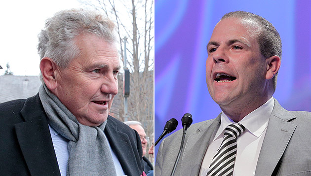 FPÖ geht mit Duo Mölzer-Vilimsky in die EU-Wahl (Bild: APA/Gert Eggenberger, APA/Georg Hochmuth)