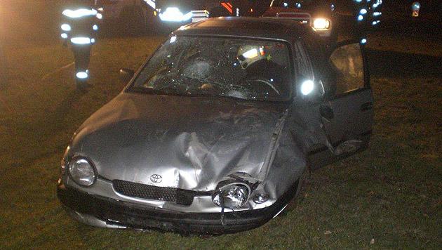 NÖ: Betrunkene kracht mit Pkw in Polizeiinspektion (Bild: LPD NÖ)