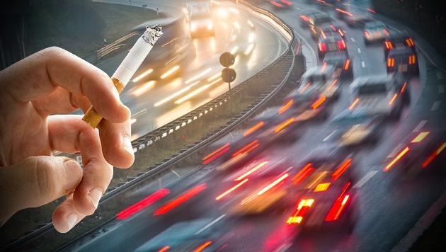 So werden Autofahrer und Raucher zur Kasse gebeten (Bild: thinkstockphotos.de, APA/EPA/Frank Rumpenhorst, krone.at-Grafik)
