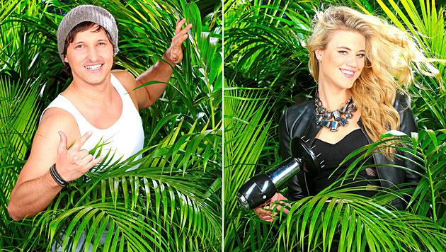 Marolt & Angelini sind heiß auf die Dschungelkrone (Bild: RTL/Stefan Gregorowius)