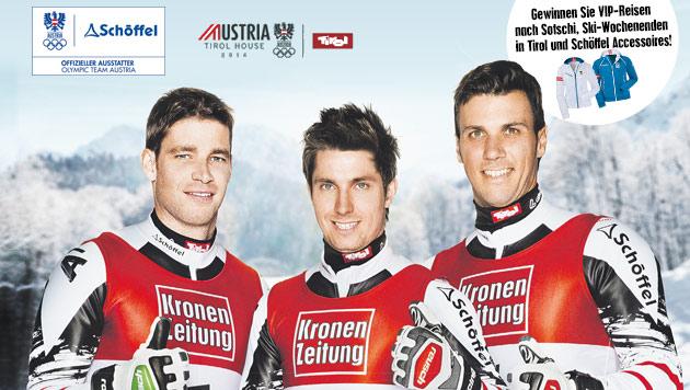 """Mit der """"Krone"""" zu den Olympischen Winterspielen (Bild: Kronen Zeitung, Schöffel)"""