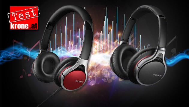 Sony-Kopfhörer: Billiger klingt bisweilen besser (Bild: thinkstockphtos.de, Sony, krone.at-Grafik)