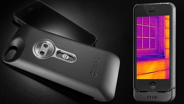 Spezielles Case macht iPhone zur Wärmebildkamera (Bild: Flir, krone.at-Grafik)