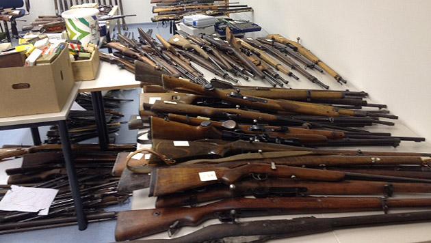 Stmk: Polizei hob drei illegale Waffenlager aus (Bild: Landespolizeidirektion)