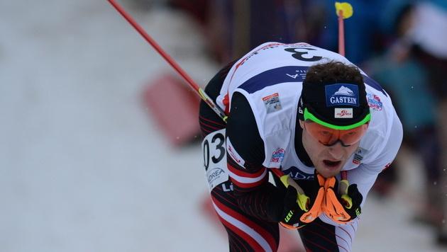 Bieler/Gruber belegen im Team-Sprint Rang acht (Bild: EPA)