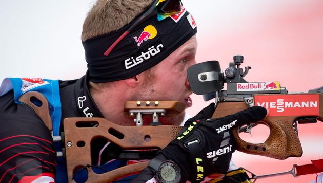 Landertinger vergibt Sieg beim letzten Schuss (Bild: EPA)