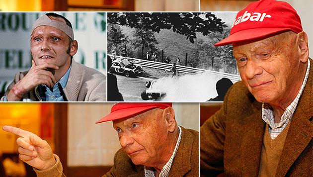 """Niki Lauda: """"Ich war früher der brutalste Hund"""" (Bild: dpa, Zwefo, krone.at-Grafik)"""
