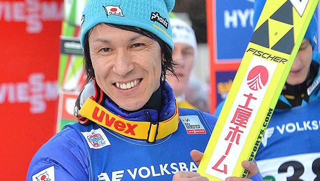 Skisprung-Oldie Noriaki Kasai triumphiert am Kulm (Bild: AP)