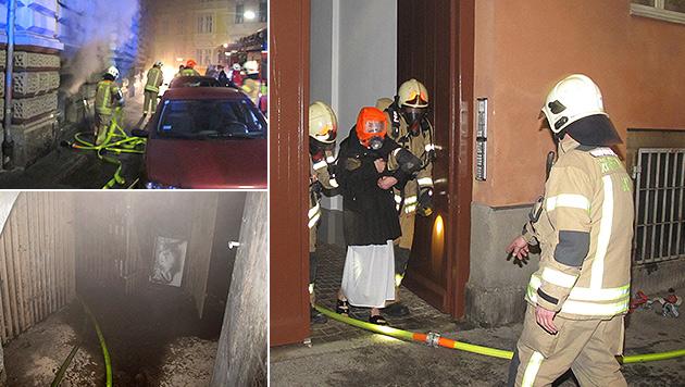 Kellerbrandserie in Graz: Sechs Menschen verletzt (Bild: APA/BF-GRAZ)