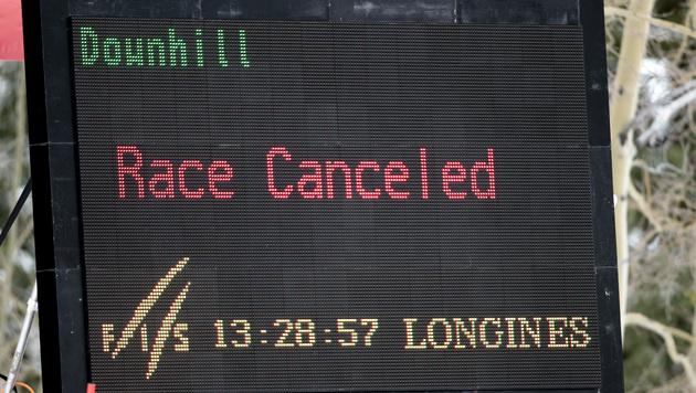 Abfahrt und Super-G der Damen in Garmisch abgesagt (Bild: APA/GEORG HOCHMUTH)