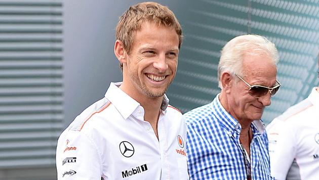 Jenson Button trauert um seinen Vater John (Bild: EPA)