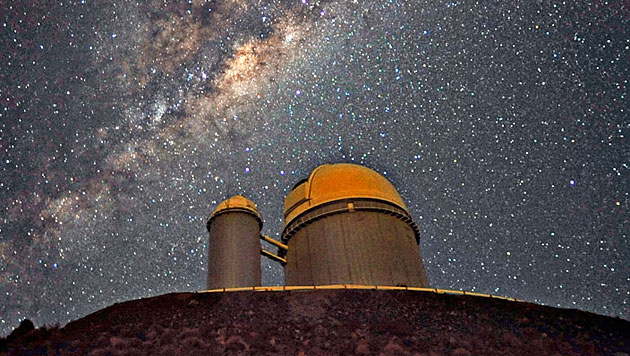 Das 3,6-Meter-Teleskop am ESO-Observatorium in La Silla (Bild: ESO/Serge Brunier)
