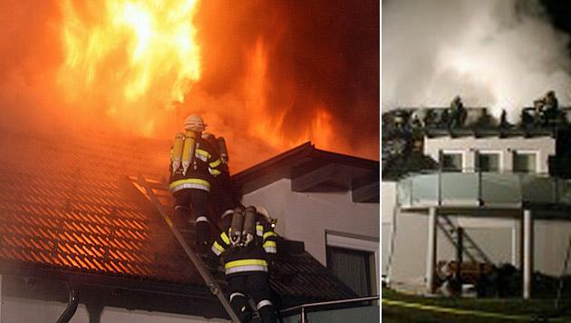 Auto ging in Flammen auf und löste Großbrand aus (Bild: FF Kalsdorf)
