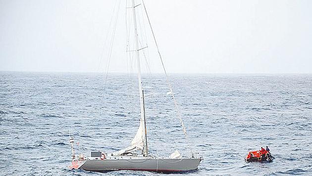 Rettungsaktion im Atlantik: 360 Österreicher dabei (Bild: Kronen Zeitung)