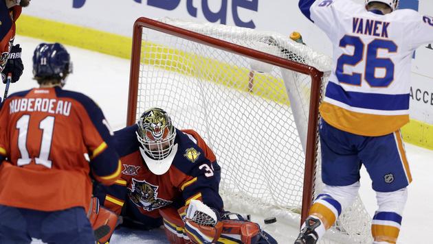 Siegesserie der Islanders trotz Vanek-Tors zu Ende (Bild: AP)