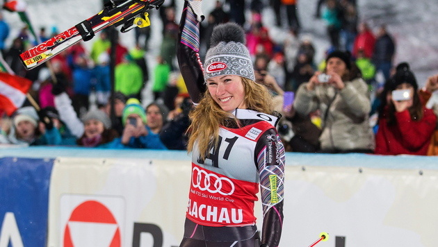 Ski-Damen staunen über phänomenale Shiffrin (Bild: APA/Johann Groder)
