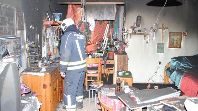 Brand in Pflegeheim: 20 betagte Bewohner gerettet (Bild: BFK AMSTETTEN)