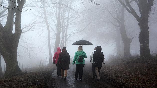 Nebel, Wolken, Regen - und bis zu 13 Grad (Bild: APA/dpa/Uwe Zucchi)