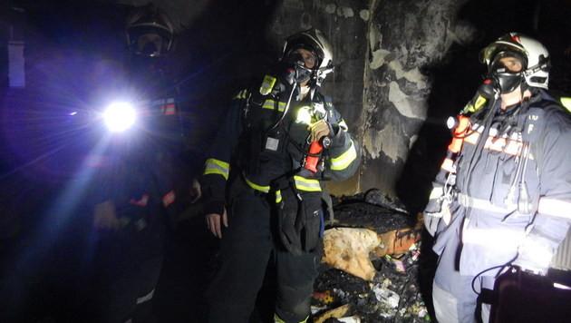 Wohnungsbrand in Wien: Feuerwehr rettet 3 Bewohner (Bild: MA68)