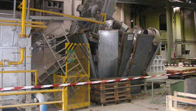 Zwei Arbeiter bei Explosion eines Ofens verletzt (Bild: LPD NÖ)
