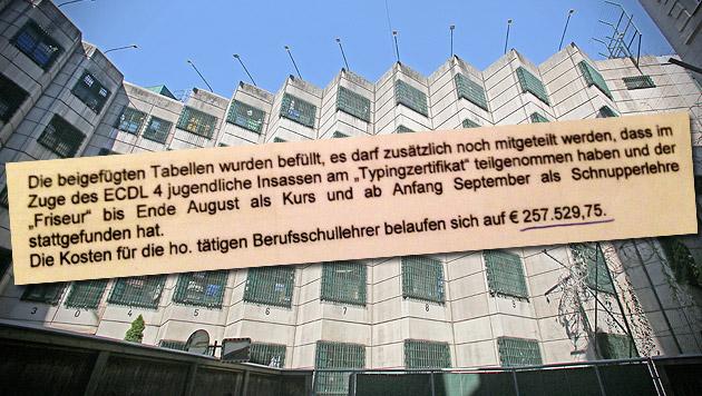 Super-Gagen für drei Lehrer in Wiener Gefängnis (Bild: Martin Jöchl, Christoph Matzl, krone.at-Grafik)