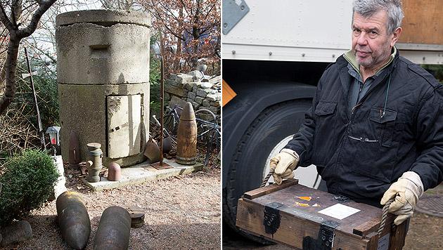 Waffenarsenal nach Explosion in Sbg entdeckt (Bild: MMV/Neumayer)